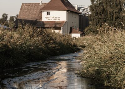 mill with water turbine